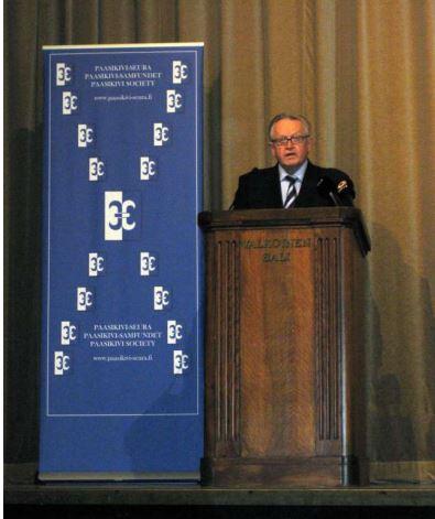 Presidentti Martti Ahtisaari Paasikivi-Seurassa
