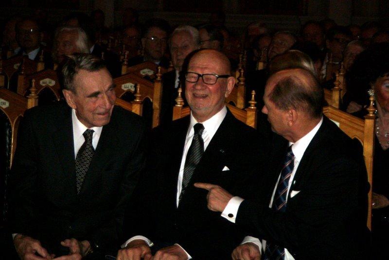 Presidentti Mauno Koivisto, Ministeri Jaakko Iloniemi ja Pääjohtaja Martti Enäjärvi