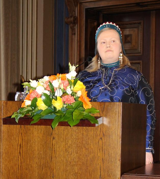 Puheenjohtaja Sanila-Aikio_Arktinen Forum 12.4.2018