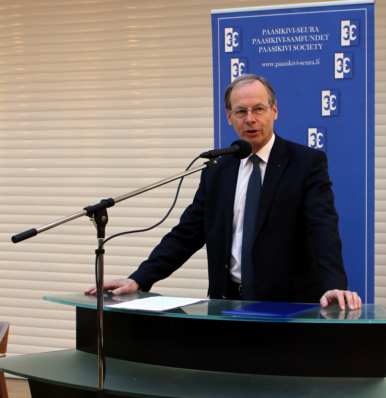 SPRn puheenjohtaja Pertti Torstila Paasikivi-Seurassa 4.5.2016